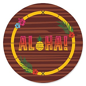 Tiki Luau -Tropical Hawaiian Summer Party Theme