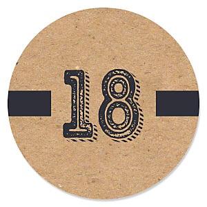 18th Milestone Birthday - Dashingly Aged to Perfection - Birthday Party Theme