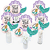 Trading The Tail For A Veil - Mermaid Bachelorette or Bridal Shower Centerpiece Sticks - Table Toppers - Set of 15