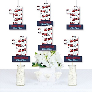 1st Birthday Railroad Party Crossing - One Shaped Decorations DIY Steam Train First Birthday Party Essentials - Set of 20