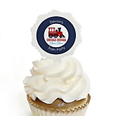 Train - Personalized Party Cupcake Picks and Sticker Kit - 12 ct