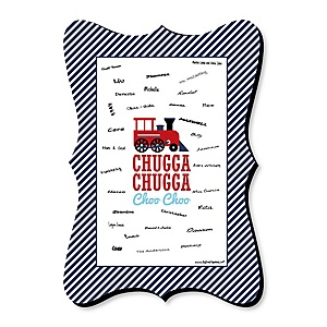 Railroad Party Crossing - Unique Alternative Guest Book - Steam Train Birthday Party or Baby Shower Signature Mat