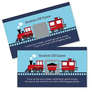 Railroad Party Crossing - Steam Train Birthday Party or Baby Shower Game Scratch Off Cards - 22 Count