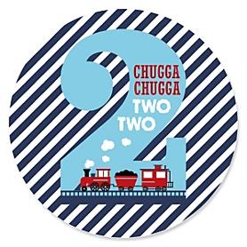 2nd Birthday - Railroad Crossing - Train Second Birthday Party Theme
