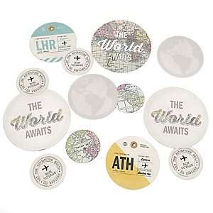 World Awaits - Travel Themed Party Table Confetti - 27 ct