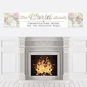 World Awaits - Personalized Graduation Banner