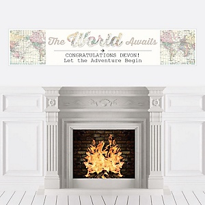 World Awaits - Personalized Graduation Banner