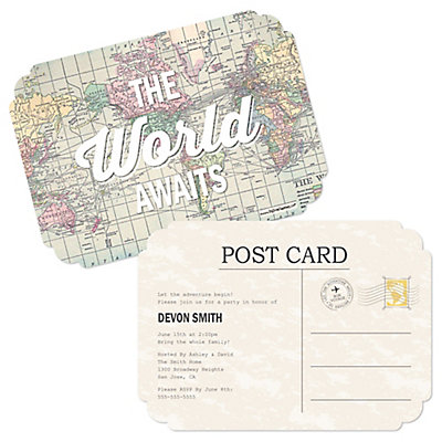 world awaits personalized graduation invitations set of 12