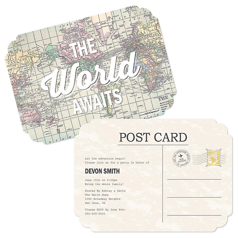 World Awaits - Personalized Graduation Invitations ...