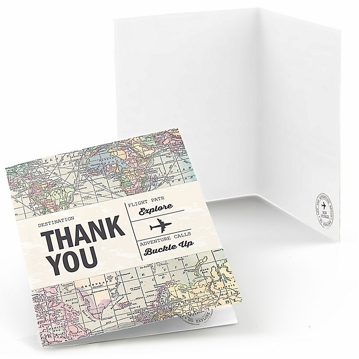 World Awaits - Graduation Party Thank You Cards - 8 ct