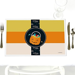 Trick or Treat - Party Table Decorations - Halloween Party Placemats - Set of 12