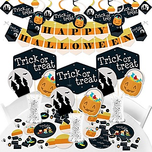 Trick or Treat - Halloween Party Supplies - Banner Decoration Kit - Fundle Bundle