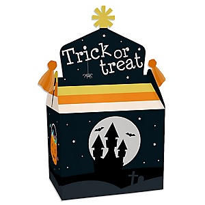 Trick or Treat - Treat Box Party Favors - Halloween Party Goodie Gable Boxes - Set of 12