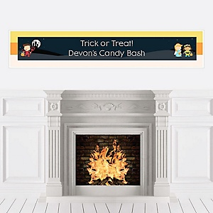 Trick or Treat - Personalized Halloween Party Banners