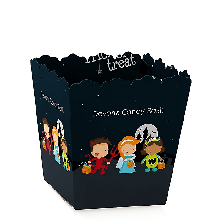 Trick or Treat - Party Mini Favor Boxes - Personalized Halloween Party Treat Candy Boxes - Set of 12