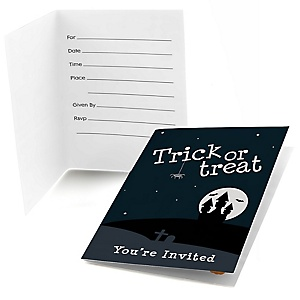 Trick or Treat - Fill In Halloween Party Invitations - 8 ct