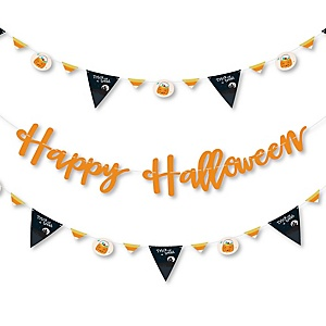 Trick or Treat - Halloween Party Letter Banner Decoration - 36 Banner Cutouts and Happy Halloween Banner Letters