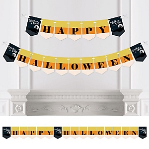 Trick or Treat - Personalized Halloween Party Bunting Banner & Decorations