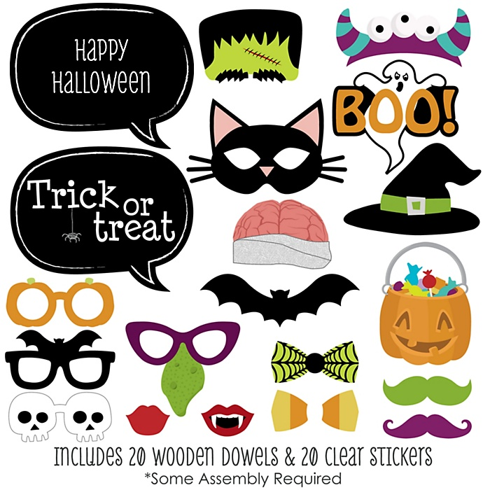 Trick or Treat - Halloween Party 20 Piece Photo Booth Props Kit