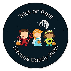 Trick or Treat - Halloween Party Sticker Labels - 24 ct