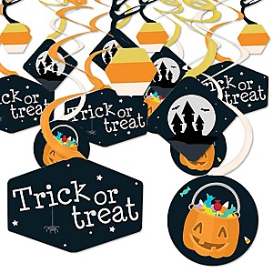 Trick or Treat - Halloween Party Hanging Decor - Party Decoration Swirls - Set of 40