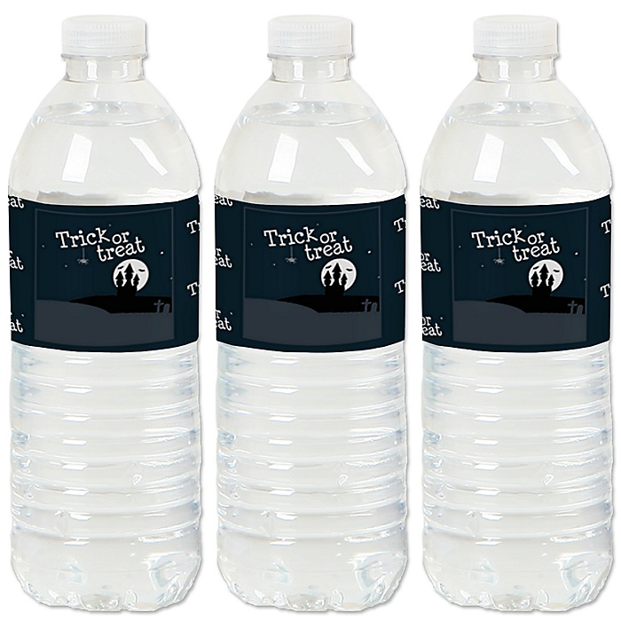 Trick or Treat - Halloween Party Water Bottle Sticker Labels - Set of 20
