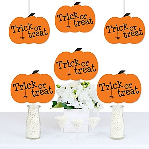 Trick or Treat - Pumpkin Decorations DIY Halloween Party Essentials - Set of 20