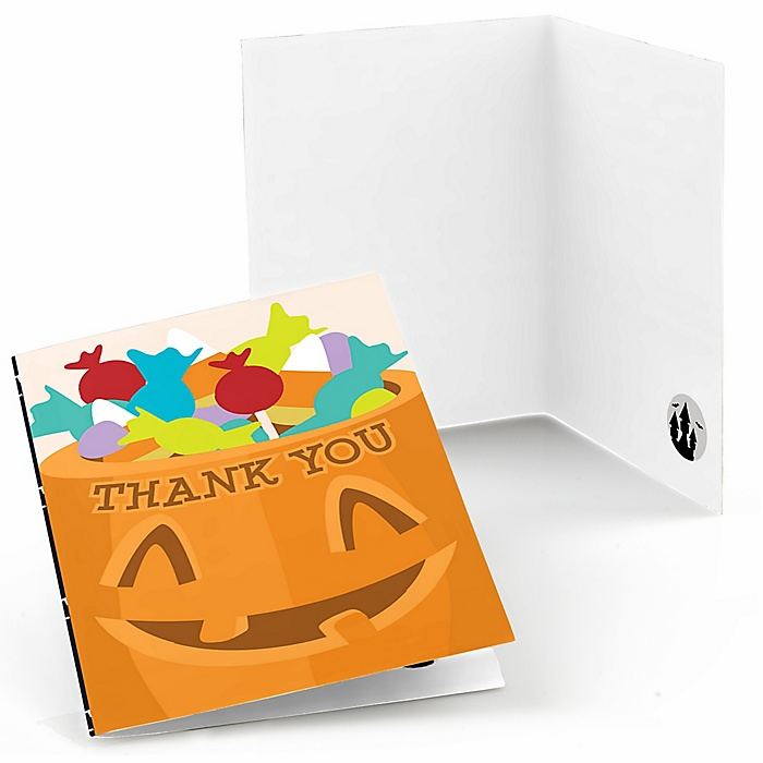 Trick or Treat - Halloween Party Thank You Cards - 8 ct