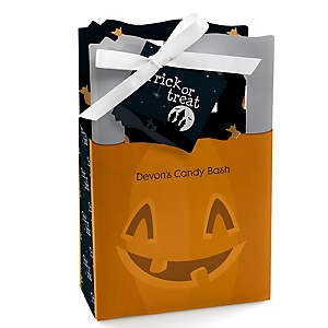 Trick or Treat - Personalized Halloween Party Favor Boxes - Set of 12