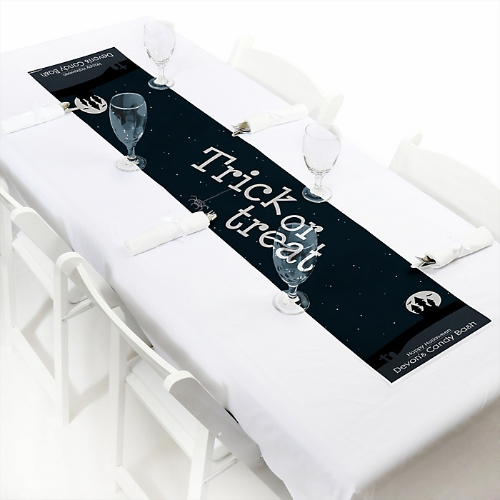 """Trick or Treat - Personalized Petite Halloween Party Paper Table Runner - 12"""" x 60"""""""