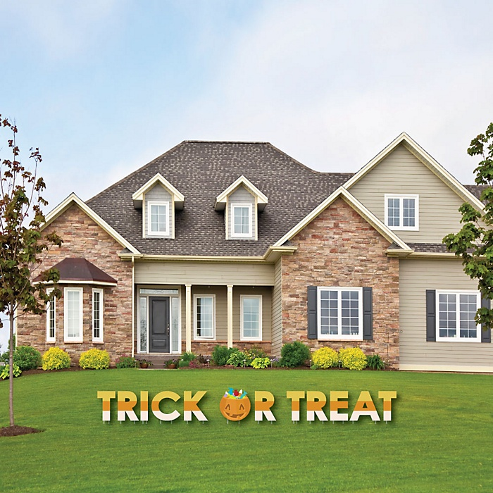 Trick or Treat - Yard Sign Outdoor Lawn Decorations - Halloween Party Yard Signs - Trick or Treat