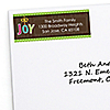 Rustic Joy - 30 Personalized Holiday & Christmas Party Return Address Labels