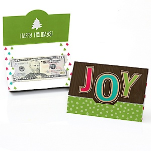 Rustic Joy - Set of 8 Holiday & Christmas Party Money And Gift Card Holders