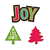 Rustic Joy - DIY Shaped Holiday & Christmas Paper Cut-Outs - 24 ct