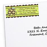 Triplet Monkeys 2 Boys & 1 Girl - Personalized Baby Shower Return Address Labels - 30 Count