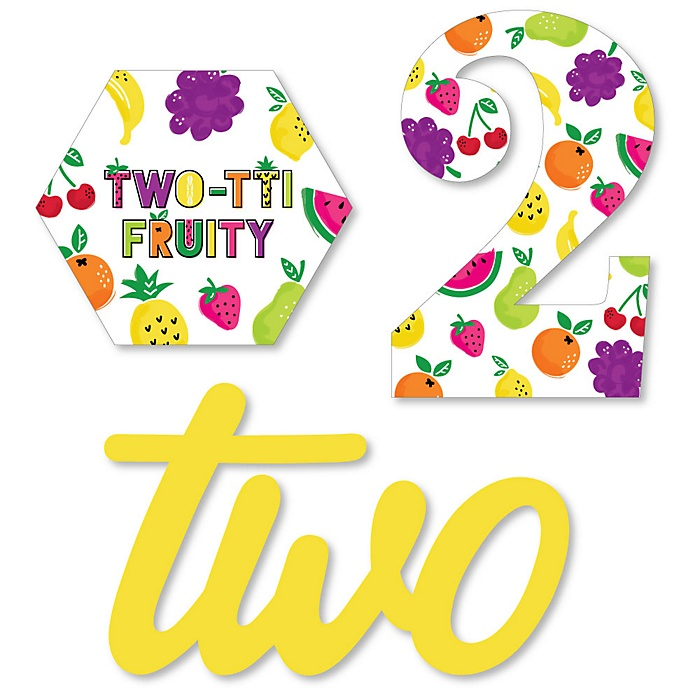 2nd Birthday TWO-tti Fruity - DIY Shaped Frutti Summer Second Birthday Party Cut-Outs - 24 ct