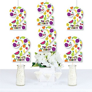 2nd Birthday TWO-tti Fruity - Two Shaped Decorations DIY Frutti Summer Second Birthday Party Essentials - Set of 20