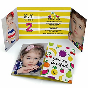 Tutti Fruity - Personalized Frutti Summer Birthday Party Photo Invitations - Set of 12