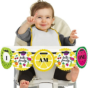 Tutti Fruity 1st Birthday - I am One - First Birthday High Chair Banner