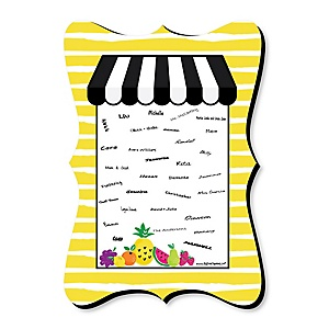 Tutti Fruity - Unique Alternative Guest Book - Frutti Summer Party Signature Mat