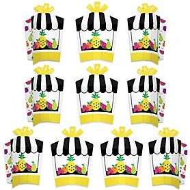 Tutti Fruity - Table Decorations - Frutti Summer Baby Shower or Birthday Party Fold and Flare Centerpieces - 10 Count