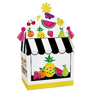 Tutti Fruity - Treat Box Party Favors - Frutti Summer Baby Shower or Birthday Party Goodie Gable Boxes - Set of 12
