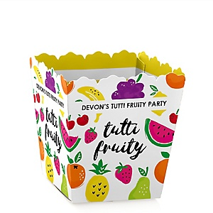 Tutti Fruity - Party Mini Favor Boxes - Personalized Frutti Summer Baby Shower or Birthday Party Treat Candy Boxes - Set of 12