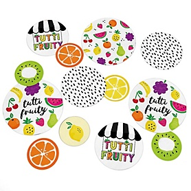 Tutti Fruity - Frutti Summer Baby Shower or Birthday Party Giant Circle Confetti - Tutti Fruity Party Decorations - Large Confetti 27 Count