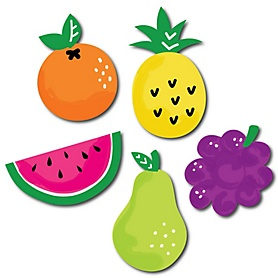 Tutti Fruity - DIY Shaped Frutti Summer Baby Shower or Birthday Party Paper Cut-Outs - 24 ct
