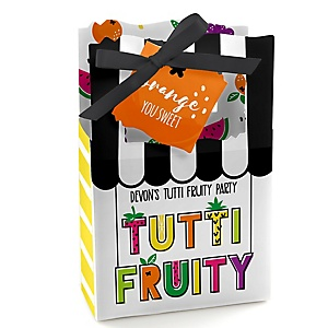 Tutti Fruity - Personalized Frutti Summer Baby Shower or Birthday Party Favor Boxes - Set of 12