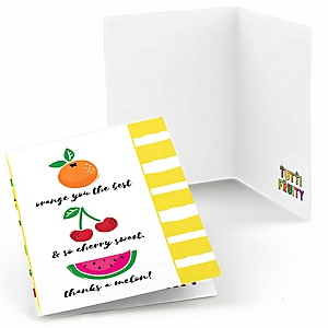 Tutti Fruity - Frutti Summer Baby Shower or Birthday Party Thank You Cards - 8 ct