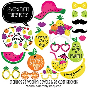 Tutti Fruity - 20 Piece Photo Booth Props Kit