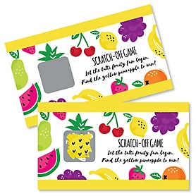 Tutti Fruity - Frutti Summer Baby Shower or Birthday Party Game Scratch Off Cards - 22 ct