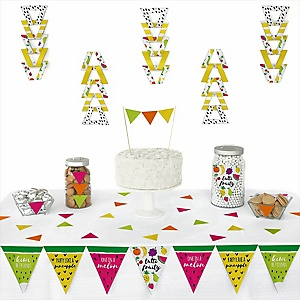 Tutti Fruity -  Triangle Frutti Summer Baby Shower or Birthday Party Decoration Kit - 72 Piece